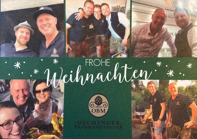 Frohe Weihnachten wünscht das OBM Team 2019