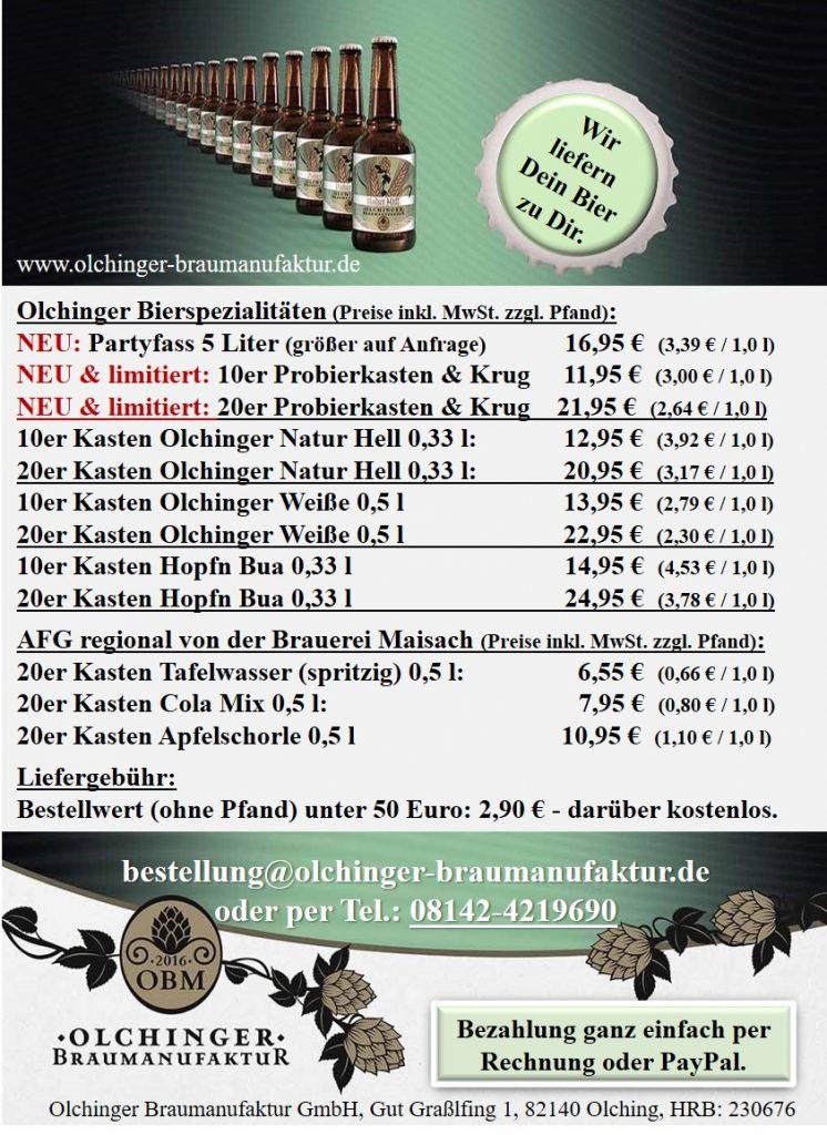 OBM-Lieferservice Preisliste November 2020