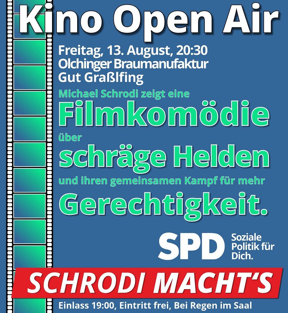 Kino bei der Olchinger Braumanufaktur im Gut Graßlfing
